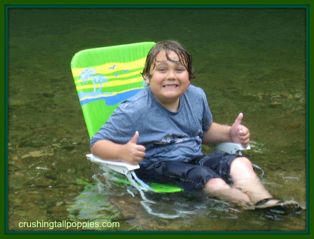 M in Creek in Chair
