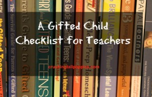 A Gifted Child Checklist for Teachers Emaze