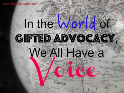In the World of Gifted Advocacy, We All Have a Voice