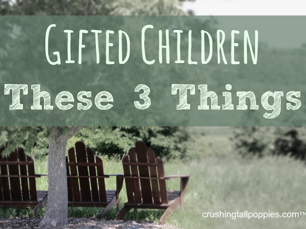 Gifted Children--These 3 Things