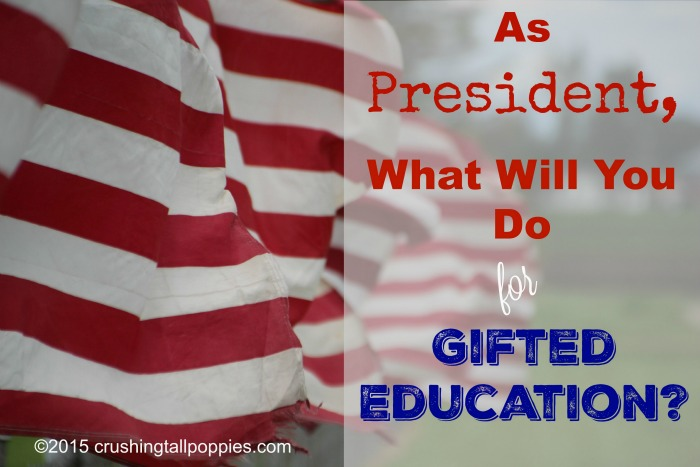 As President, What Will You Do for Gifted Education