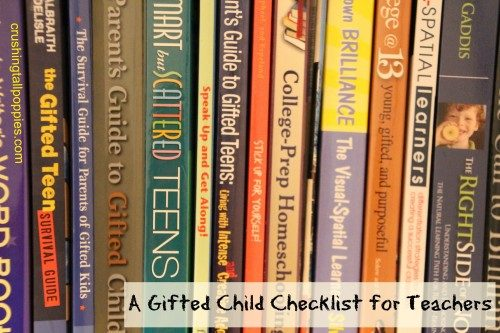 A Gifted Child Checklist for Teachers | Crushing Tall Poppies